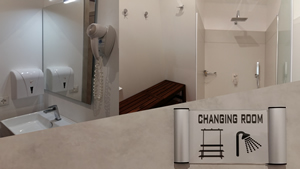 Changing rooms with shower